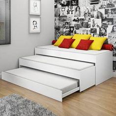 De que forma conseguimos colocar três camas no segundo quarto, sem deixar ele cheio demais? Seria uma boa!