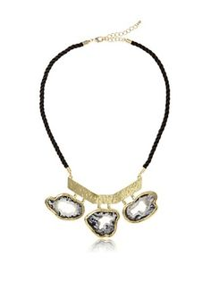 65% OFF Saachi Open Druzy Necklace On Black Cord