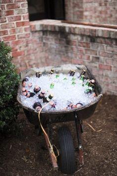 Wheelbarrow for drinks. Yes.