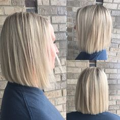 Platinum Blonde Blunt Bob Cut  By Nicole Janes at Alpine Hair and Day Spa