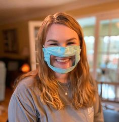 Ashley Lawrence is studying education for the deaf and hard of hearing in Eastern Kentucky, but she's created a template for a new face mask that allows people to read lips while caregivers protect themselves. Diy Mask, Diy Face Mask, Face Masks, Clear Face Mask, Doctor Mask, Funny Face Mask, Diy Accessoires, Maskcara Beauty, Unique Faces