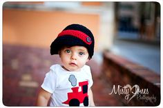 Little Red Train Outfit by eed953 on Etsy, $26.00