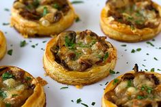 Caramelized Onion, Mushroom and Cheese Tartlets