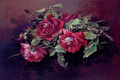 Print FREE SHIP Dramatic Cabbage Roses by VictorianRosePrints, $10.99