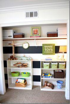 cute closet toy storage