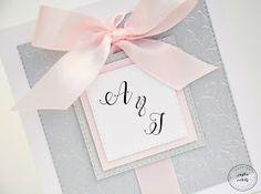 Justa Cards Blog: Silver & Pink - Zaproszenie ślubne