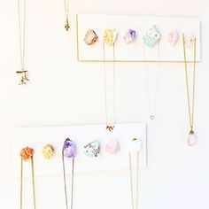 Make a gorgeous necklace display using crystals. | 35 Completely F*cking Awesome DIY Projects