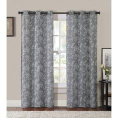 VCNY Oakland Poly/Linen Grommet Curtain Panel Pair - Guest Room