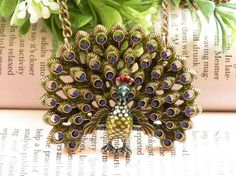 peacock necklace pendant