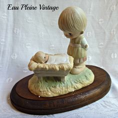 Christmas Nativity Come Let Us Adore Him by EauPleineVintage