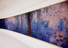 """An Impressionist Gem in Paris: The Orangerie Museum: A section of Claude Monet's masterpiece, """"Les Nymphéas"""", at the Musée de l'Orangerie in Paris."""