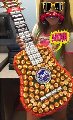 Candy Guitar for end of the year teacher gift! #candyguitar #teachergift #rocknroll