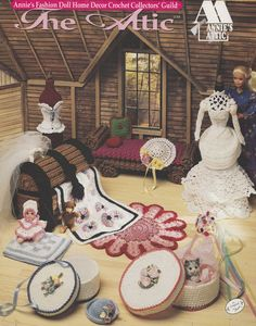 Attic Fashion Doll Home Decor Crochet Patterns - Doll House Decorations