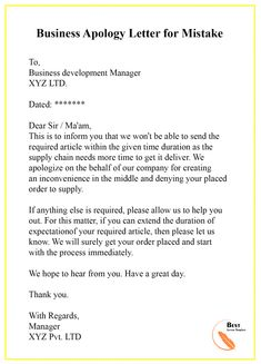Apology Letter Template for Mistake – Format, Sample & Example Letter To Boss, Letter Sample, Persuasive Writing Examples, Writing Tips, Email Writing, Letter Writing, Sorry Letter, A Formal Letter, Certificate Of Completion Template