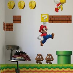 Mario wall decals. $75