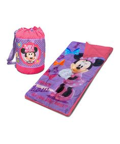 Loving this Minnie Mouse Sleeping Bag & Duffel on #zulily! #zulilyfinds