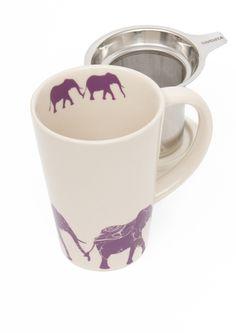 I just purchased this mug and several teas from DAVIDsTEA! :) Spring 2013 - Perfect Mug - Elephant Print Elephant Mugs, Elephant Love, Indian Elephant, Elephant Print, Perfect Cup Of Tea, My Cup Of Tea, Davids Tea, Tea Infuser, Loose Leaf Tea