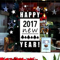 Happy New Year 2017  Wall Sticker Oksale 22 x 21 Inch Merry Christmas Wallpaper Home Decor Sitting Room Applique Papers Mural Decoration Decal White -- Continue to the product at the image link.