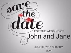 A modern Save The Date Wedding Invitation with a gradient background, and black text. Modern Save The Dates, Gradient Background, Special Day, Rsvp, Wedding Invitations, Dating, Social Media, Black, Quotes