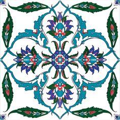 Turkish Tile, Iznik Tile, Screen-Printed Tile, Ceramic Tile, x x Turkish Tiles, Turkish Art, Portuguese Tiles, Moroccan Tiles, Islamic Tiles, Islamic Art, Motifs Islamiques, Zentangle, Ceramic Tile Art
