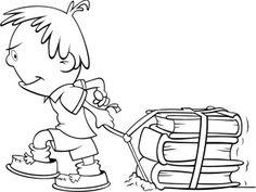 Niño arrastrando libros School Clipart, Kids Learning, Bookmarks, Coloring Pages, Clip Art, Art School, School Ideas, Album, Creative
