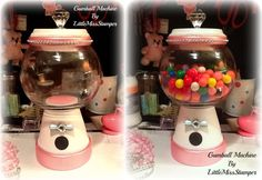 Handmade DIY Gumball Machine using flower pots =)