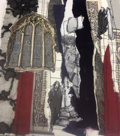 Laura Lothian: textiles, collage, stitch, applique, mixed media, gothic lace, inks. ALevel Textiles