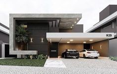 landscape architecture - 36 Amazing Modern Home Design Exterior Ideas Best Modern House Design, Modern Exterior House Designs, Modern Villa Design, Dream House Exterior, Modern Architecture House, Modern House Plans, Architecture Design, Amazing Architecture, Bungalow House Design
