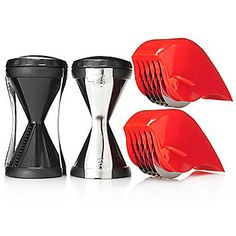 Veggetti Set of Two Spiral Vegetable Cutters w/ Two Super Slicers