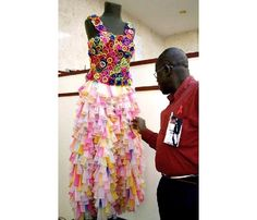 prom dresses made out of  recycled materials
