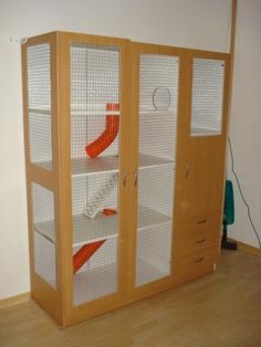 Rat Cage made out of a cupboard!