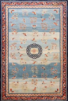Rare Antique 18th Century Kansu Carpet from China From Nazmiyal Antique #orientalrug collection in #manhattan