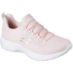 Skechers Women's Dynamight Pink - Skechers (2.895 RUB) ❤ liked on Polyvore featuring shoes, sneakers, pink, training shoes, skechers footwear, mesh sneakers, shock-absorbing shoes and slip on trainers