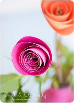 Pappersrosor – Paper roses | Craft & Creativity – Pyssel & DIY