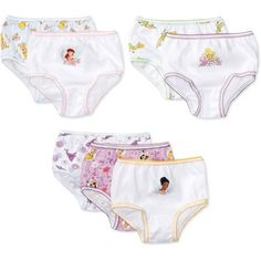 Disney Toddler Girl Tinker Bell Underwear, 7-Pack, Size: 2-3T, Assorted