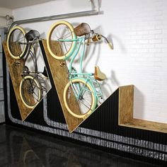 wall-mounted bike rack