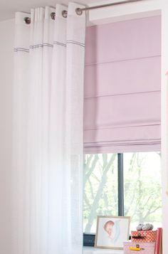 Stoer antraciet grijs op inbetween stof | #Gordijnen #Curtains #HappyLock #Roze #Pink #White