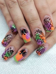 glowspiders by safarinails - Nail Art Gallery nailartgallery.nailsmag.com by Nails Magazine www.nailsmag.com #nailart