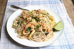 Pad thaï aux crevettes - shrimp pad thai