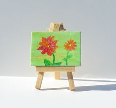 Miniature Original Painting with Easel  Child with by AidforAbby, $9.99