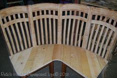 Adorable Corner Bench made from 4 Chairs » The Homestead Survival