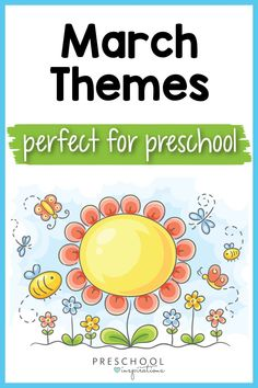 March is such a fun time in preschool - make it a breeze with these March preschool themes! There are awesome theme ideas like garden, flowers, and rain, and a whole ton of materials and resources included for each theme! Name Activities, Preschool Themes, Spring Activities, Reading Activities, Science Activities, Rainbow Songs, Preschool Garden, March Themes, Curriculum Mapping