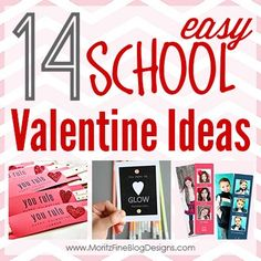 14 super easy  DIY School Valentine Ideas Round-Up | www.MoritzFineBlogDesigns.com