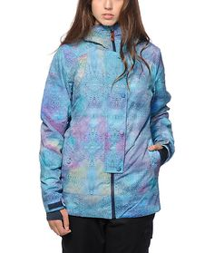 From the streets to the summit stay warm in fresh style with this tailored fit insulated snow jacket made with a printed EXOTEX waterproof exterior that keeps you nice and dry no matter what the weather has to offer.