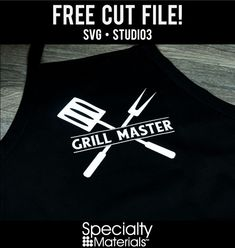 Here we have FREE cut files free for your use. Grill Apron, Bbq Apron, Funny Aprons For Men, Silhouette Cameo Tutorials, Barbecue, Apron Designs, Grill Master, Dad To Be Shirts, Vinyl Designs