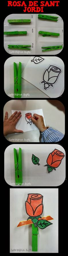 Mother's Day Activities, Art Activities For Toddlers, Diy For Kids, Crafts For Kids, Arts And Crafts, Diy Crafts, St Georges Day, Family Theme, Thinking Day