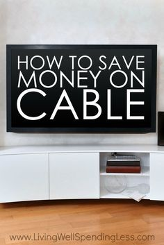 Is your cable bill out of control?  Believe it or not, there are plenty of ways to shave big bucks off of your cable bill each month! via Living Well Spending Less