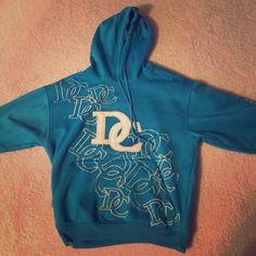 Blue Washington DC Hoodie Turquoise blue Washington DC hoodie. Good condition, Runs small. Tops Sweatshirts & Hoodies