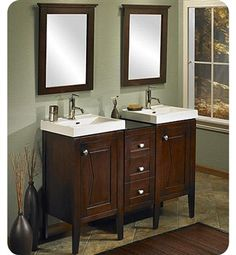 Fairmont Designs Tux N Tie 48 Transitional Double Sink Bathroom Vanity W Sinks And