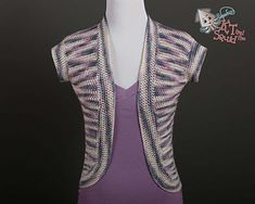 This super simple cardi uses only one stitch. it's worked all in one piece with no seaming.